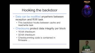 REcon - 2014 - Exploring the impact of a hard drive backdoor (Jonas Zaddach)
