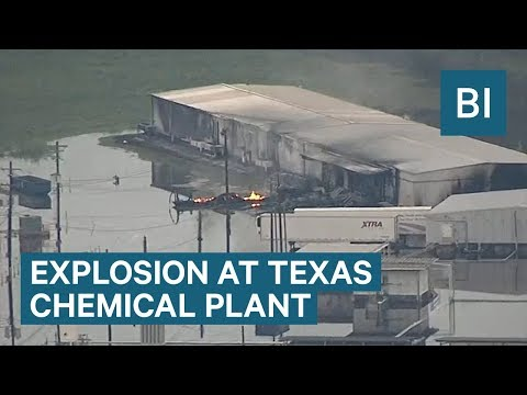 Two explosions were reported at a flooded chemical plant in Texas