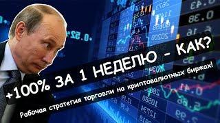 Стратегия торговли криптовалютой на бирже | Как сделать +100% за неделю | Реальный Бизнес