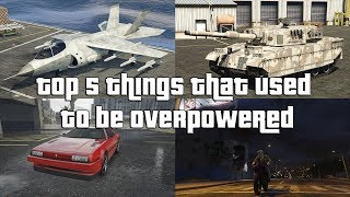 GTA Online Top 5 Things That Used To Be Overpowered, But Aren't Anymore