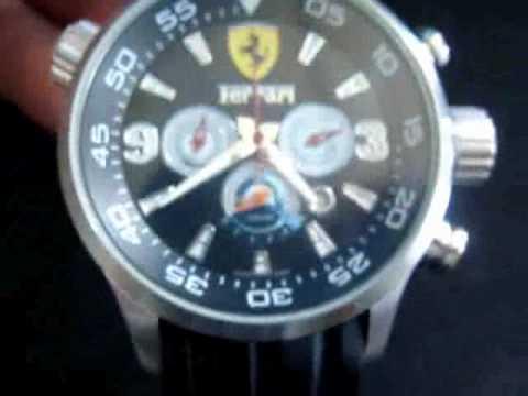 961f8c8bd2b Réplicas Relógios Ferrari Chrono Racing Preto - YouTube
