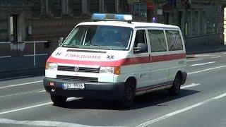 Prague police cruiser escorting ambulance | Praha Policie ČR + RZ assistance sanitka [6.2014]