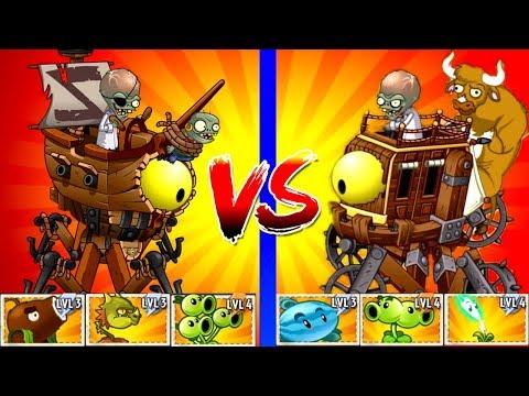 Plants vs Zombies 2 Dr. Zomboss - Pirate vs Wild West Zombot - How to Beat Zomboss in PVZ 2