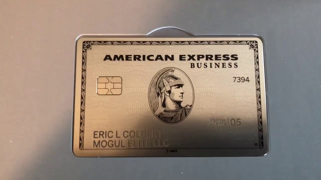 American Express Business Platinum Card Unboxing Youtube