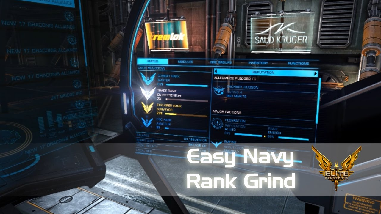 Quick and Easy Navy Ranking Tutorial - Federal and Imperial (Elite:  Dangerous 1 5, 2 0 Horizons)