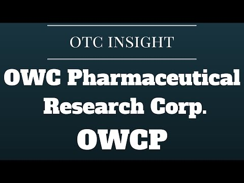 OTC Insight: $OWCP OWC Pharmaceutical Research Corp.