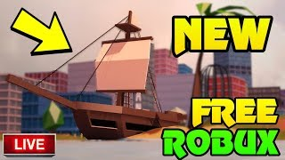 🔴 FREE ROBUX GIVEAWAY!! | Roblox Jailbreak NEW UPDATE IS HERE! | Pirates!? | New Secret Item | Live