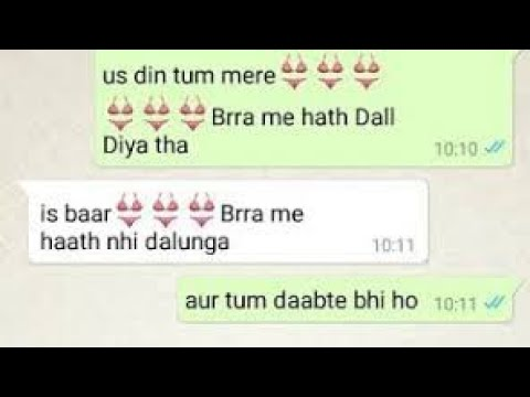 😍😘Funny Cute And Romantic Couple Personal 😘😘WhatsA Chat Conversation To Gf Bf