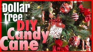 DIY Candy Cane Ornaments | DAY 6 ~ 25 Days of Christmas | #mychristmasmystyle2018