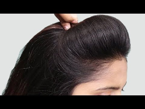 Beautiful PUFF with BUN Hairstyle tutorial | Party/wedding Hairstyles | hairstyles for girls thumbnail