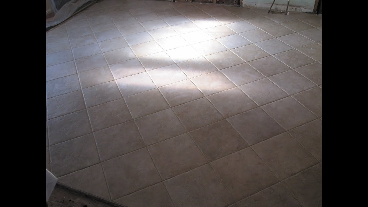 How to grout a ceramic tile floor. - YouTube