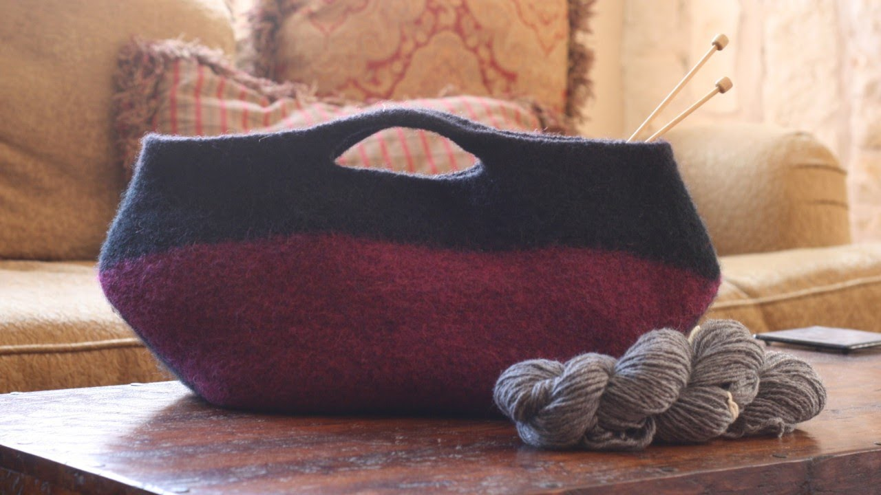 Learn To Felt Knitted Purse Youtube