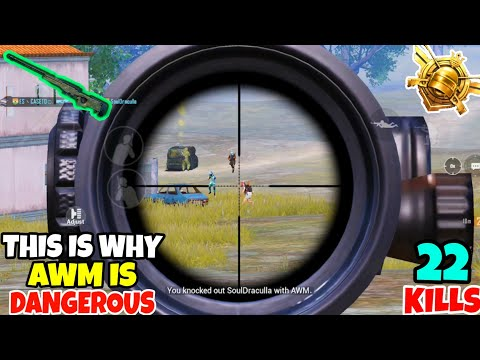 This Is Why AWM Is Too Dangerous In PUBG Mobile • (22 KILLS) • PUBG MOBILE (HINDI)