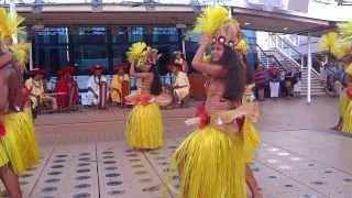 CELEBRITY SOLSTICE TAHITIAN DRUM DANCE in PAPEETE HD 1080p