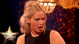 Jennifer Lawrence Shocked By Eddie Redmayne's Early Model Photos - The Graham Norton Show thumbnail