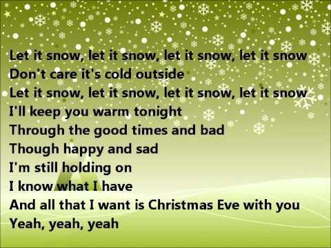 Glee - Christmas eve with you - lyrics