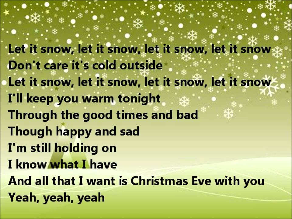 Glee - Christmas eve with you - lyrics - YouTube