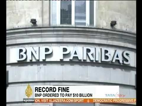 BNP Paribas shares fall due to $10 bn fine report