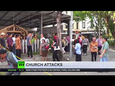 Triple suicide attack on Christian churches leaves 11 dead, 40 injured  in Indonesia