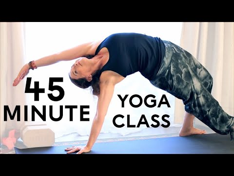 Yoga Body Workout: Free Yoga Class (Vinyasa Yoga 45 min class) With Fightmaster Yoga