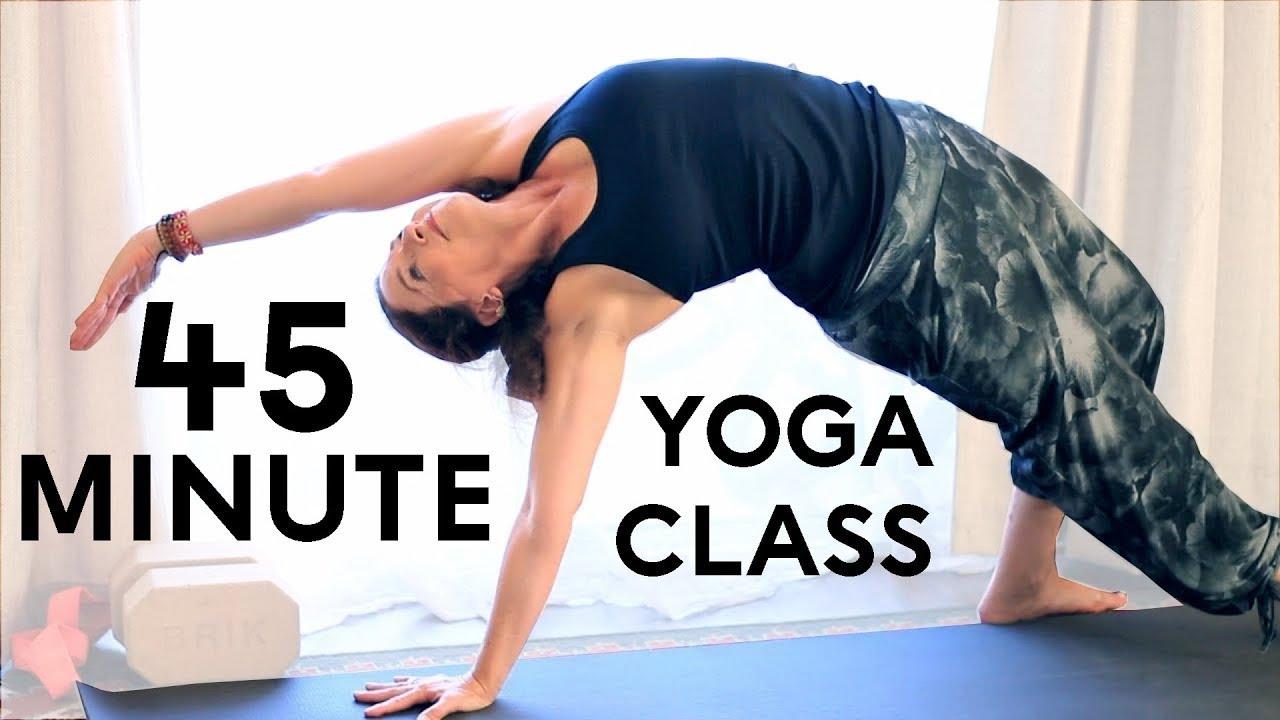 Yoga Body Workout Free Yoga Class 45 Minute Hatha Yoga Vinyasa Youtube