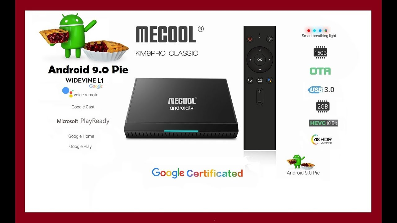 MECOOL KM9 Pro Classic Voice Control TV Box android 9 0 - Google  Certificated