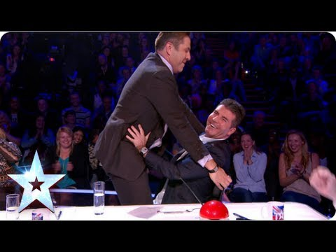 David walks out! Lured back by his Simon | Semi-Final 2 | Britain's Got More Talent 2013