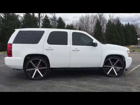 Gmc Denali 2017 >> 2008 CHEVROLET TAHOE RIDING ON 26'S FOR SALE AT DLUX-MOTORSPORTS - YouTube