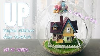 DIY KIT: UP Disney inspired house decor terrarium (IT LIGHTS UP TOO!) (♡´౪`♡)