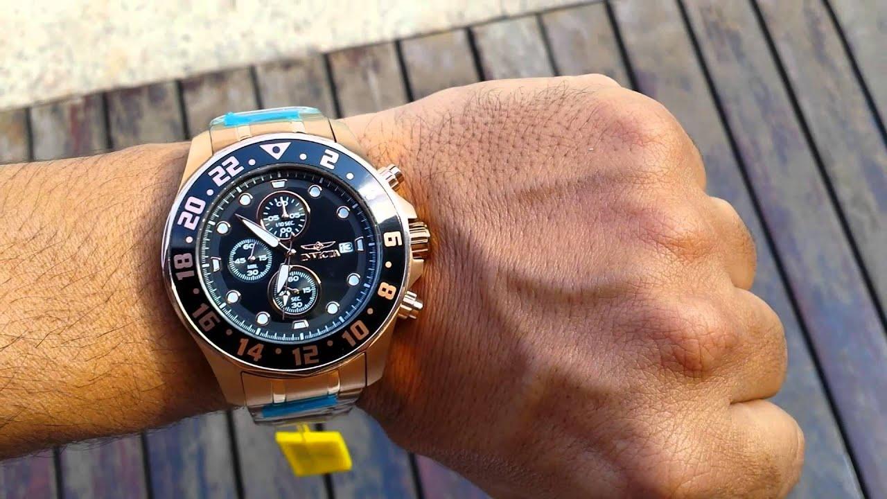 09ba7d745f6 Relogio Invicta pulseira de aço modelo Pro Diver - YouTube