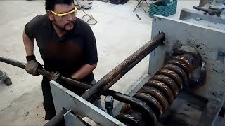 Dangerous Skills Large Bending Machines Work Extreme Forging Factory Machine