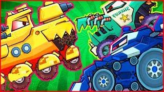 СРАЖЕНИЕ СО ВСЕМИ БОССАМИ car eats car 3 Игра как мультик про хищные машинки от Фаника