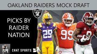 Oakland Raiders Mock Draft: Fan-Led Raider Nation Edition For 2019 NFL Draft