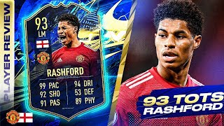 SO STRONG!🤩 93 TEAM OF THE SEASON RASHFORD REVIEW! FIFA 21 Ultimate Team