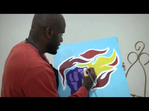 Columbia artist using the Scriptures to paint a picture of The Holy Bible