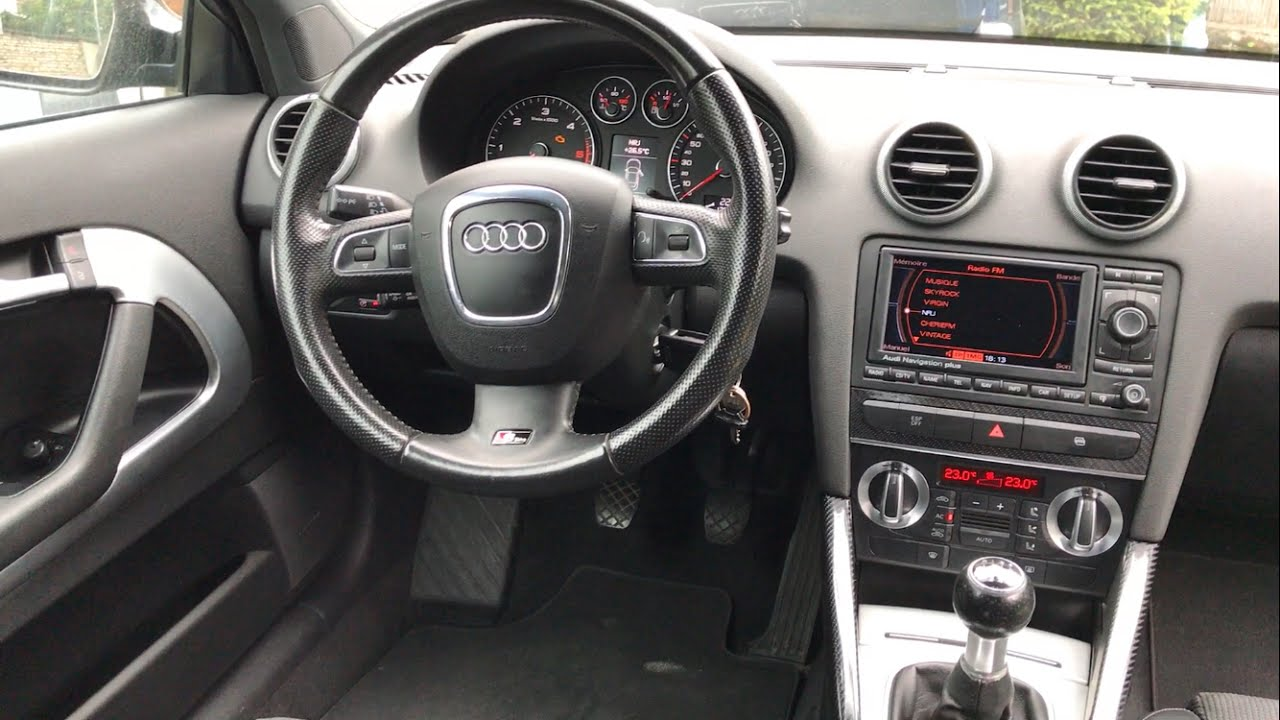 intrieur audi a3 s line carbone