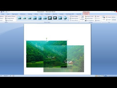 MS Word - How To Move A Picture In The Document