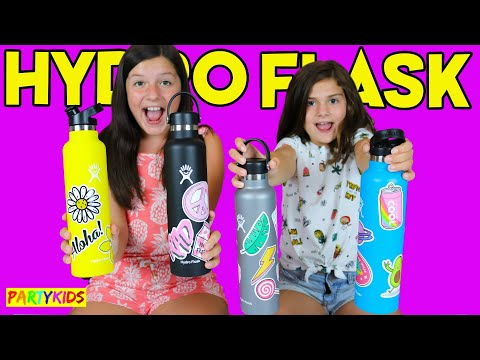 Decorating My Hydro Flask With Stickers!! Redbubble Haul!!