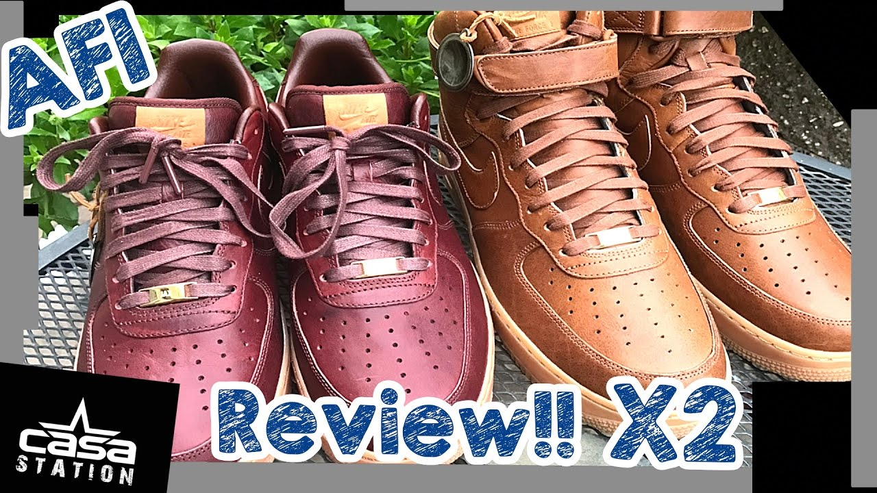 1 Double Sneaker Review Nike Air Force 1 x Will Leather Goods