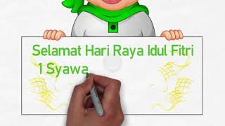 Ucapan Idul Fitri Kreatif | BackSound Sholawat Nisya Syaban