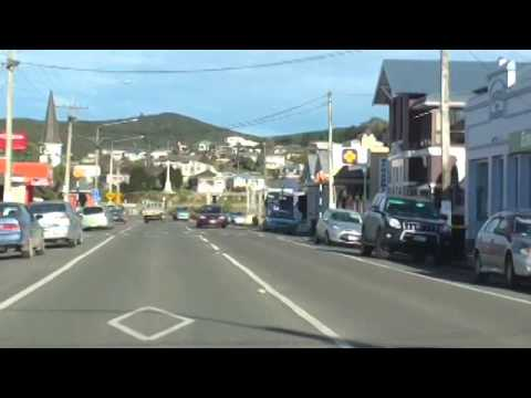 Drive Through Riverton, Southland, NZ - 5 August 2014
