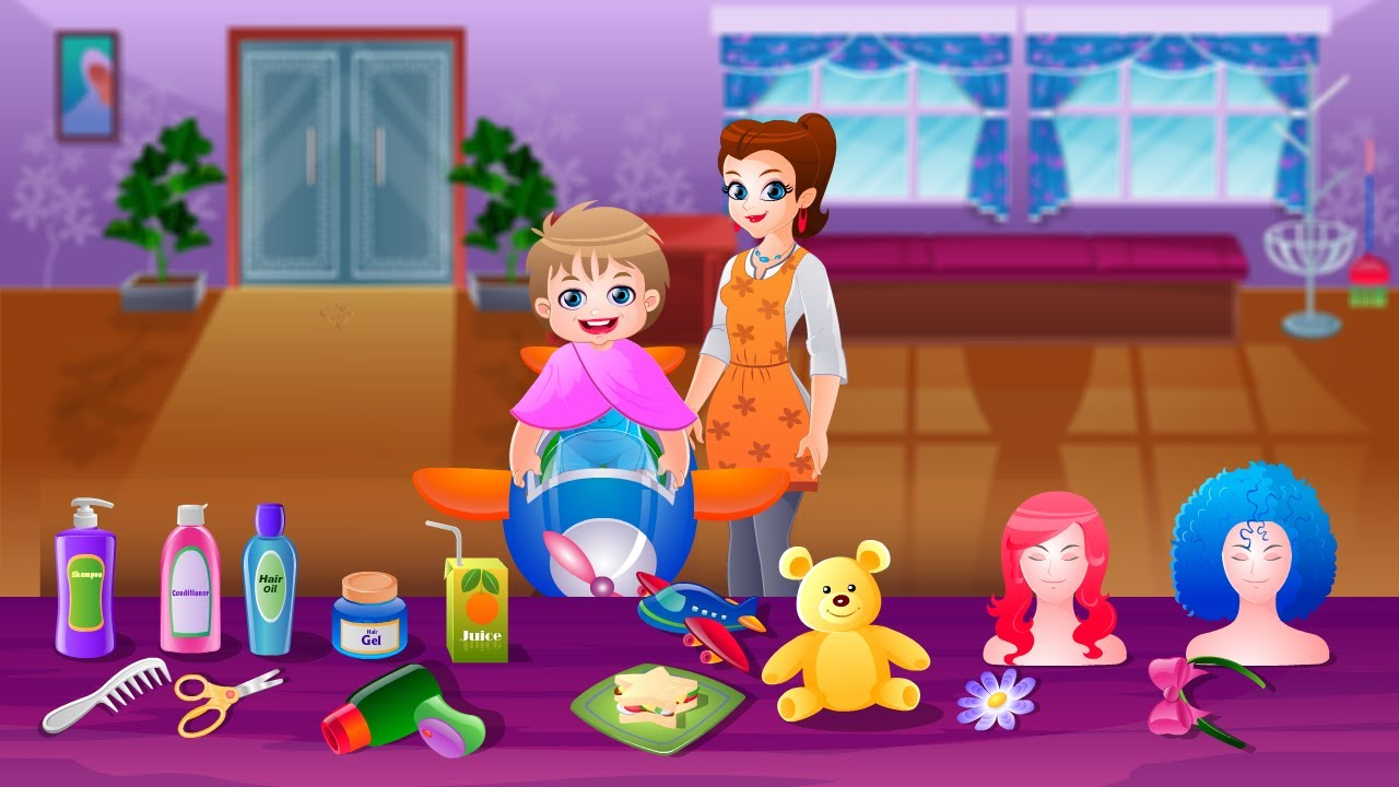 Hair Styling Games Online: Kids Hair Salon Game Movie By Top Baby Games