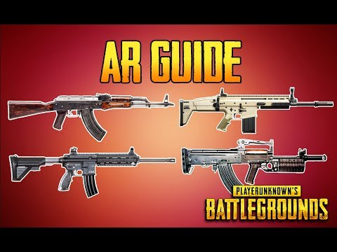 PLAYERUNKNOWN'S BATTLEGROUNDS AR GUIDE! PUBG GUN GUIDE! TrainingGrounds Episode 4! PUBG LIVE!