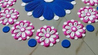 Attractive Akshaya Tritiya Rangoli जो आप भी बना लेंगे अक्षय तृतीया की रंगोली बनाये by Sangeeta
