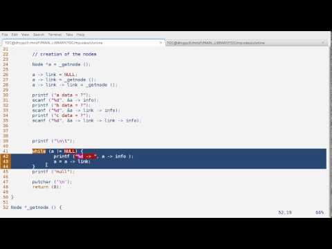 linked list using c