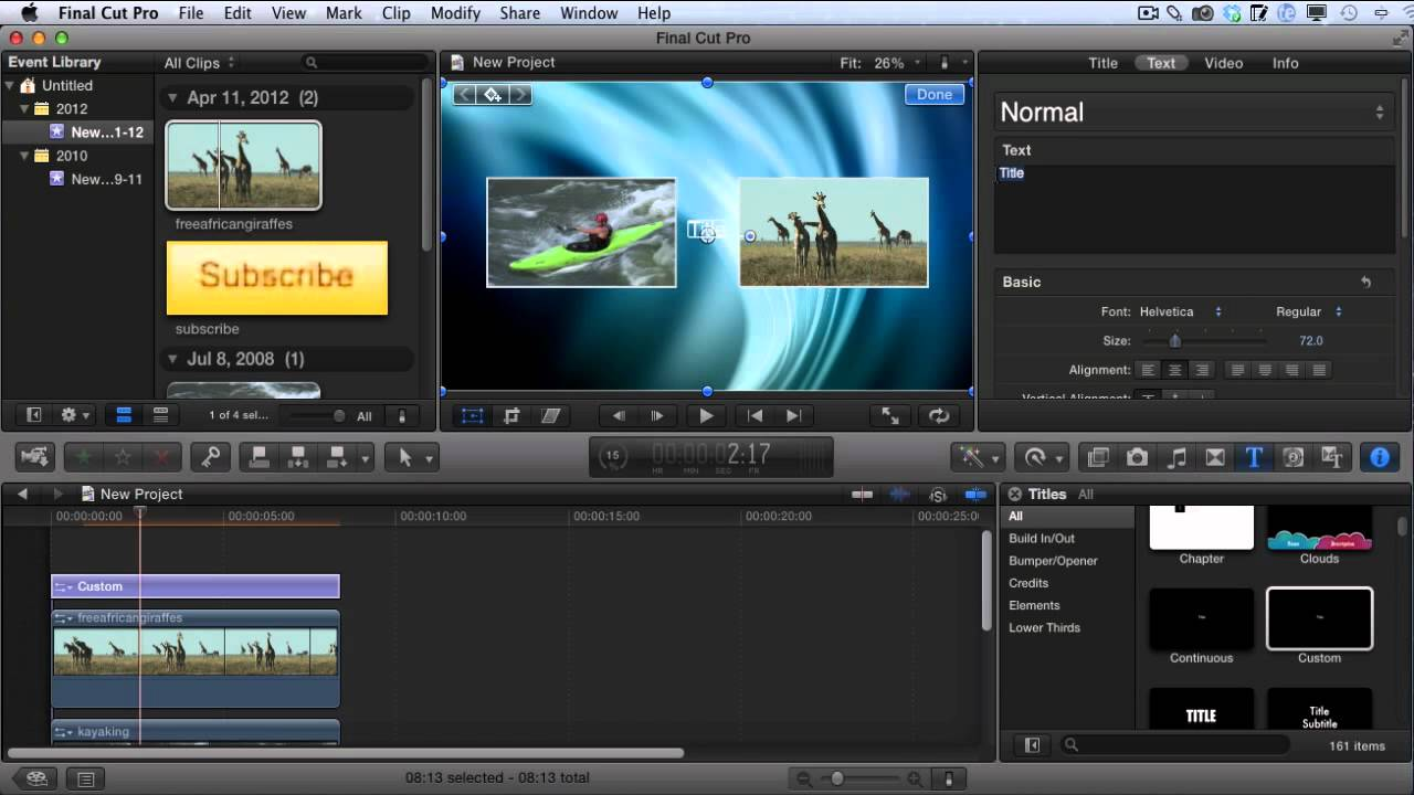 how to create youtube video outro 39 s with final cut pro x. Black Bedroom Furniture Sets. Home Design Ideas