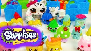 LPS Shopkins Mega Opening 12 Pack Set Collection Littlest Pet Shop Toy Review Unboxing