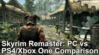 Skyrim Special Edition Remaster: PC vs PS4/Xbox One Graphics Comparison