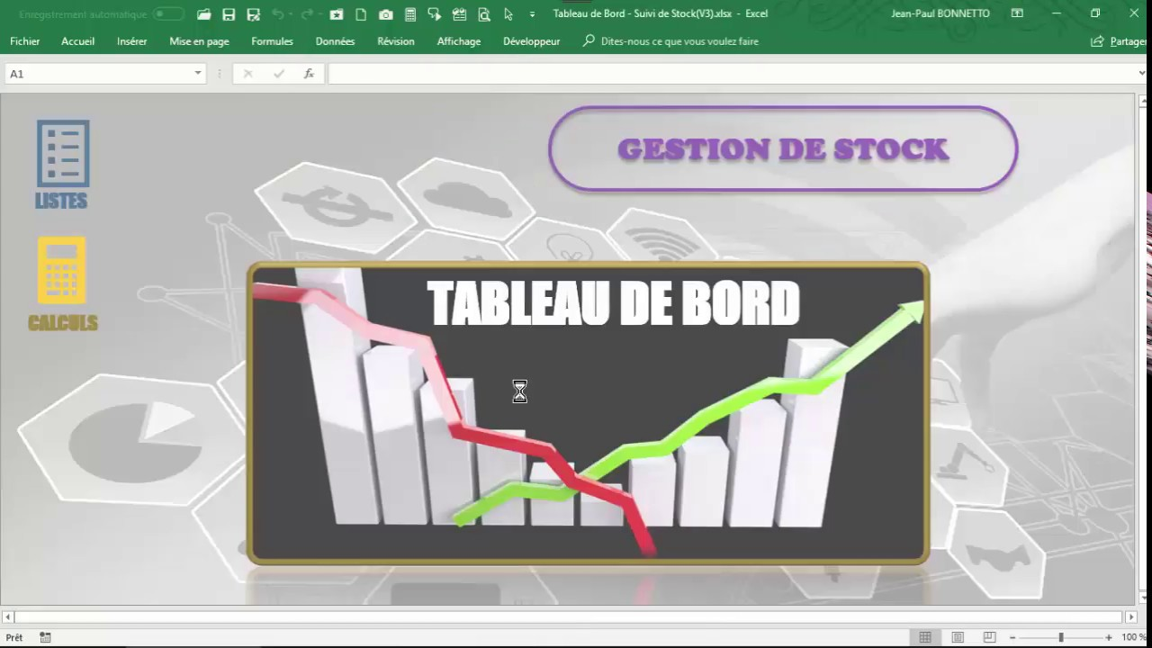 Tableau de Bord - Suivi des Stocks (Leçon n° 1) - YouTube