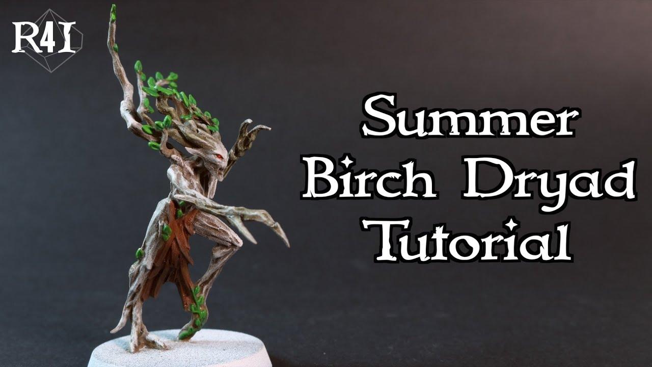 Birch Dryad Painting Tutorial